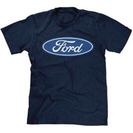 Mens Blue Ford Logo T-Shirt