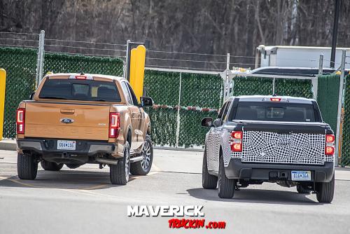 Ford Maverick vs New Ford Ranger Size Comparison