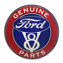 Ford Red White and Blue V8 Genuine Parts Sign